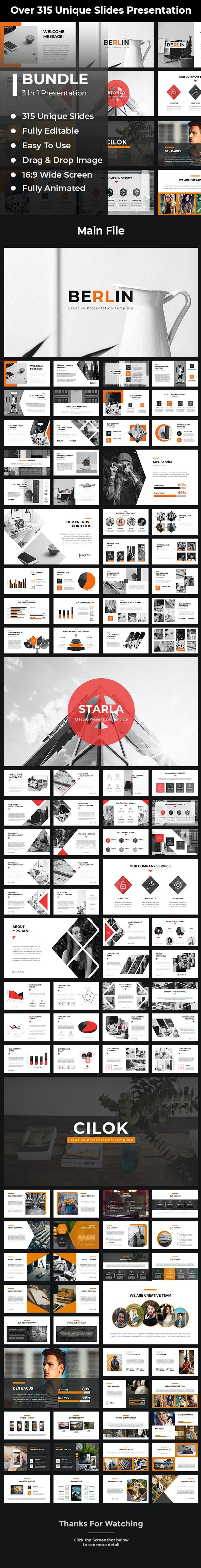 Bundle 3 in 1 Google Slides Template - Google Slides Presentation Templates