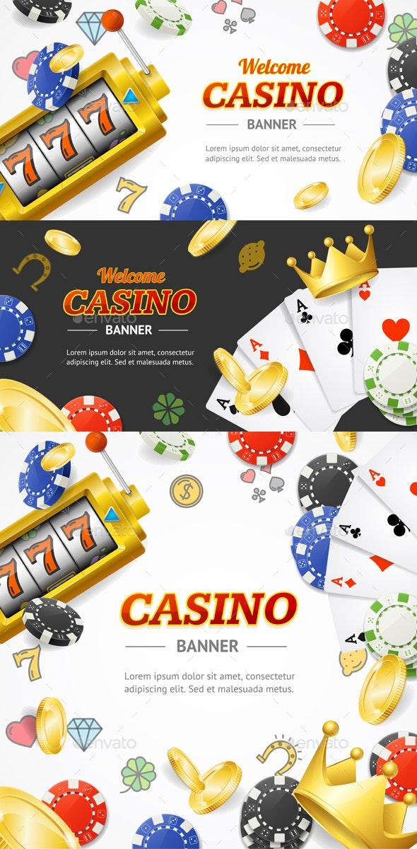 Casino Banner Set - Miscellaneous Conceptual