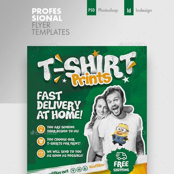 T-Shirt Print Flyer Templates