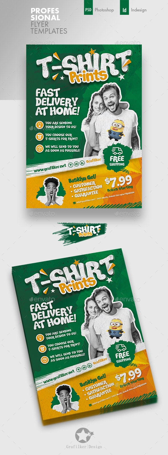 T-Shirt Print Flyer Templates - Corporate Flyers