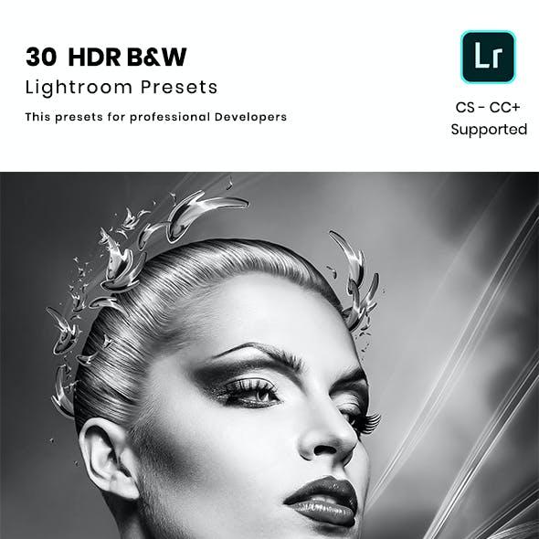 30 HDR B&W Lightroom Preset