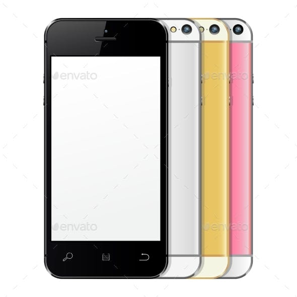 New Realistic Black, Silver, Golden and Rose Phone