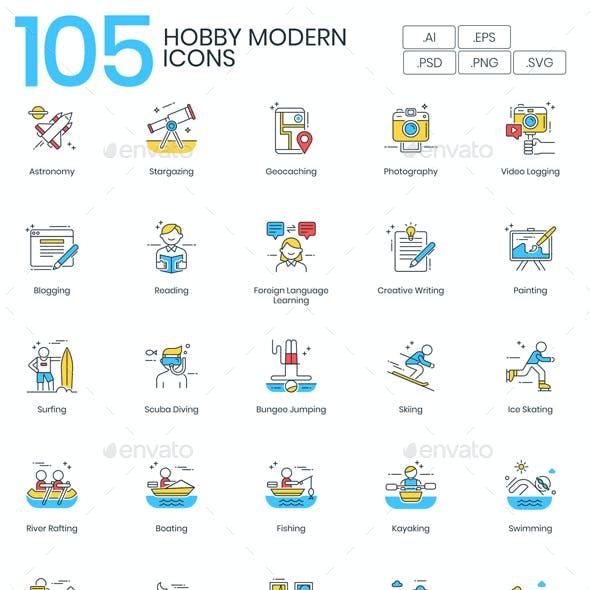 Modern Hobby Icons