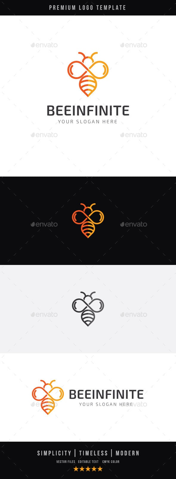 Bee Infinite - Animals Logo Templates
