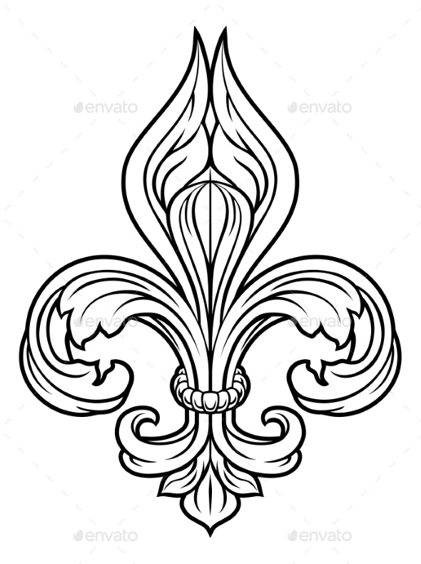 Fleur De Lis Graphic Design Element - Miscellaneous Vectors