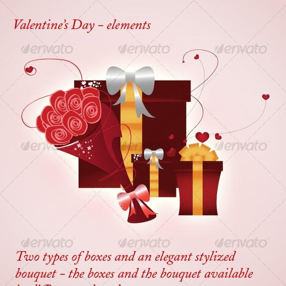 Valentine's Day - elements