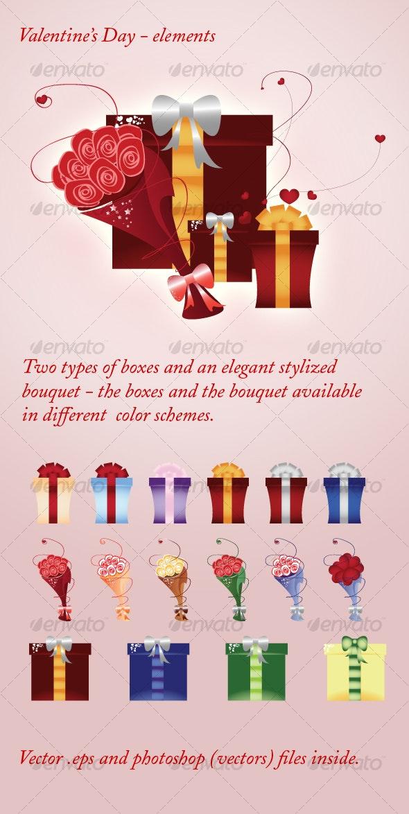 Valentine's Day - elements - Decorative Vectors