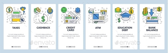Web Site Onboarding Screens Banking and Financial