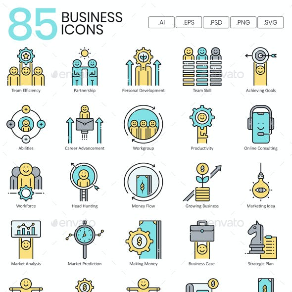 Business Icons | Aqua