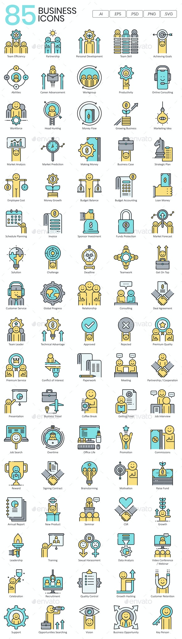Business Icons | Aqua - Business Icons