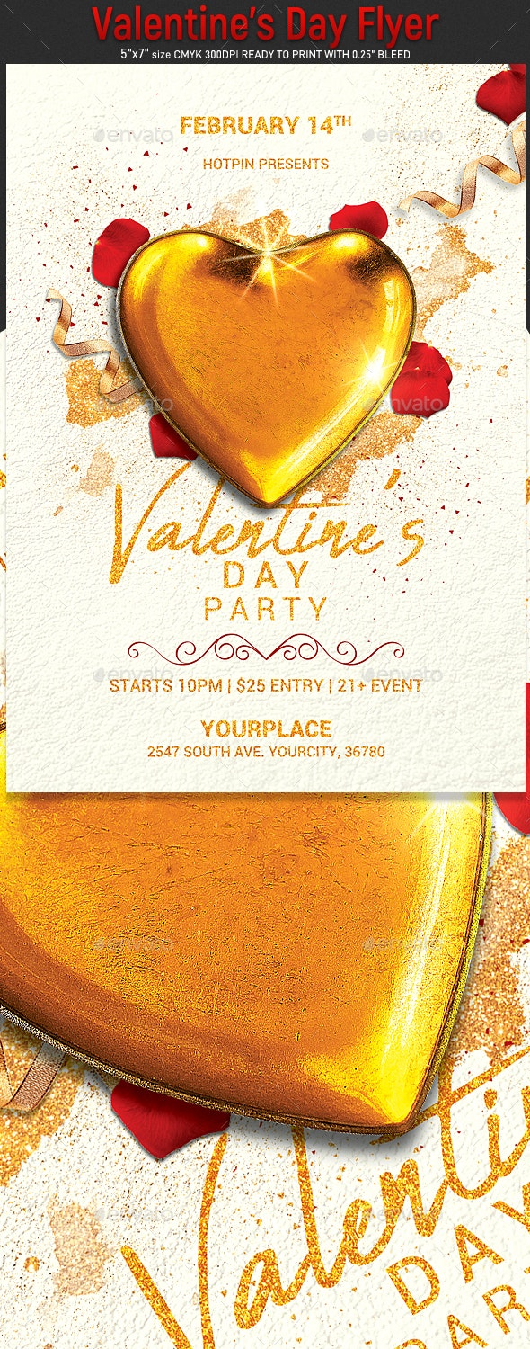Valentines Day Flyer - Clubs & Parties Events