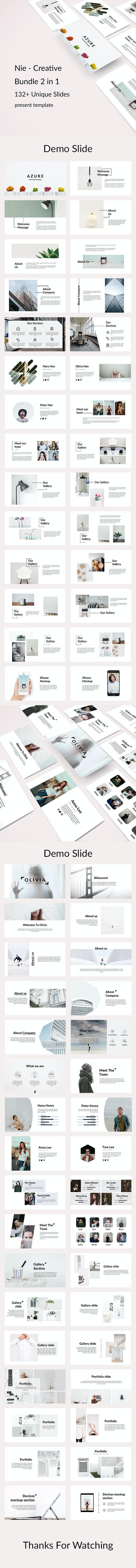 Nie 2 in 1- Creative Powerpoint Template Bundle - Creative PowerPoint Templates