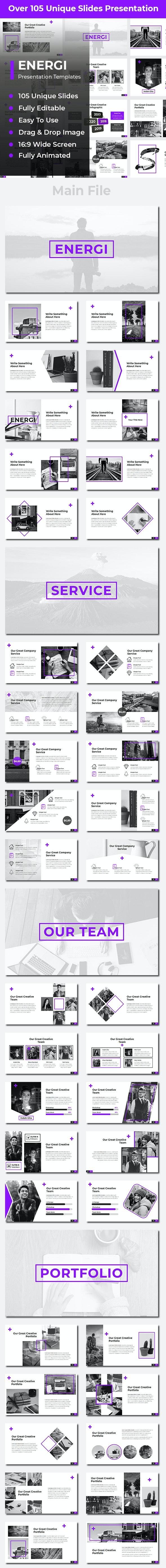 Energi Creative PowerPoint - Creative PowerPoint Templates