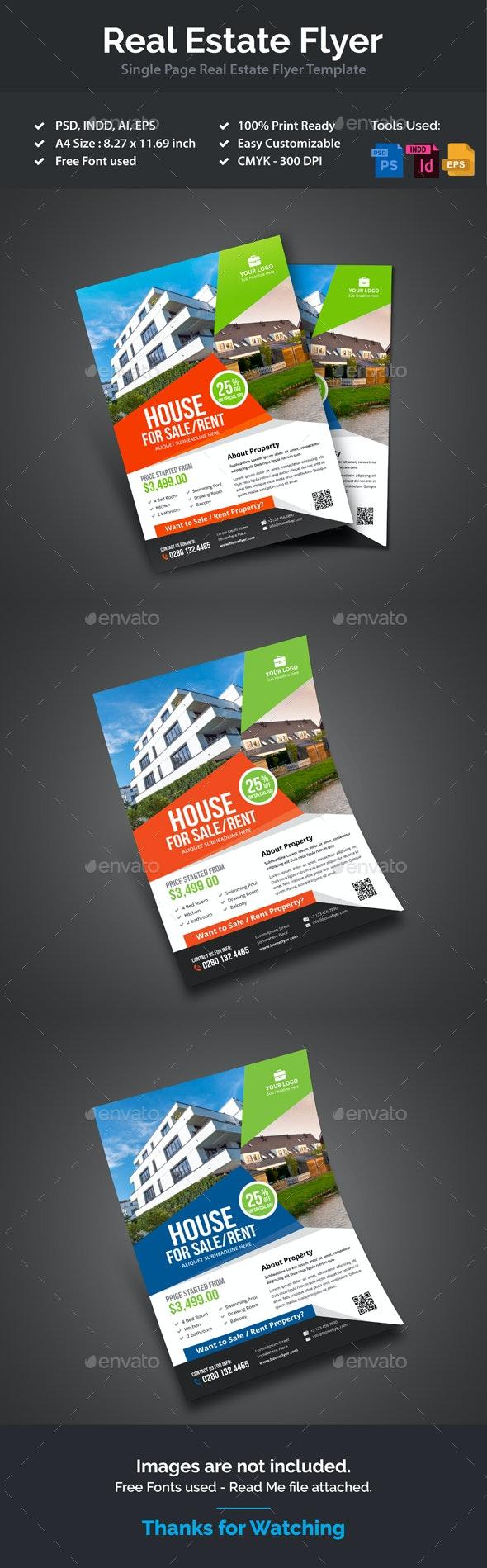 Real Estate Flyer Design - Flyers Print Templates
