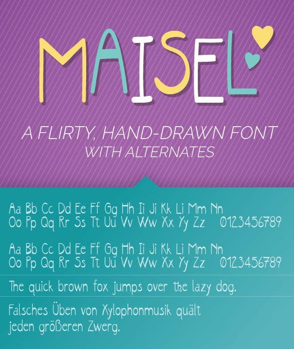 Maisel Font - Cool Fonts