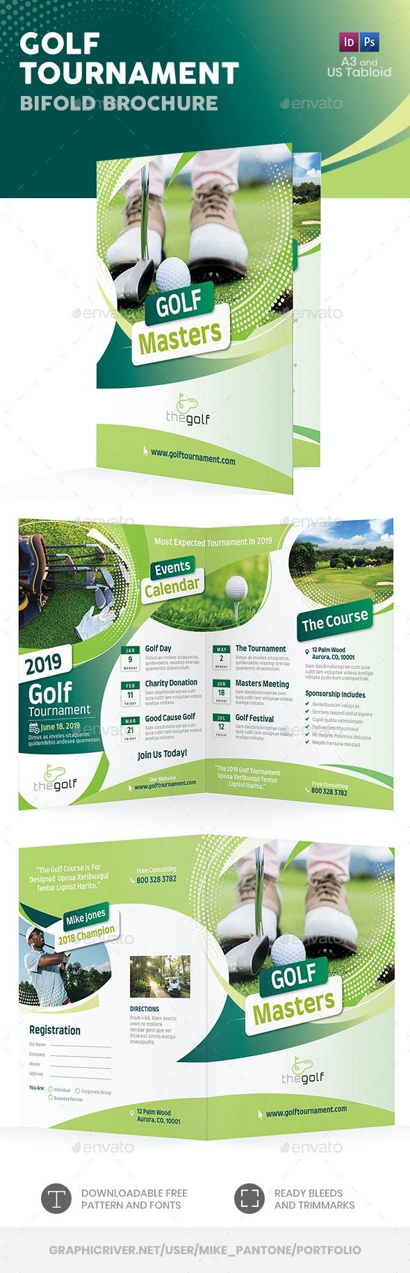 Golf Tournament 2019 Bifold / Halffold Brochure - Informational Brochures