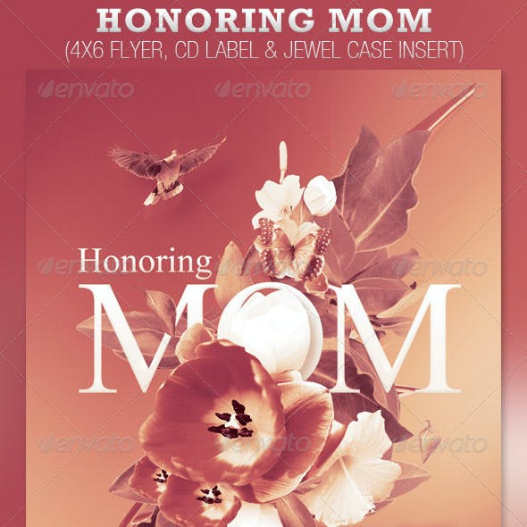 Honoring Mom Church Flyer and CD Template