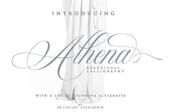 Beauty Athena - Calligraphy Script