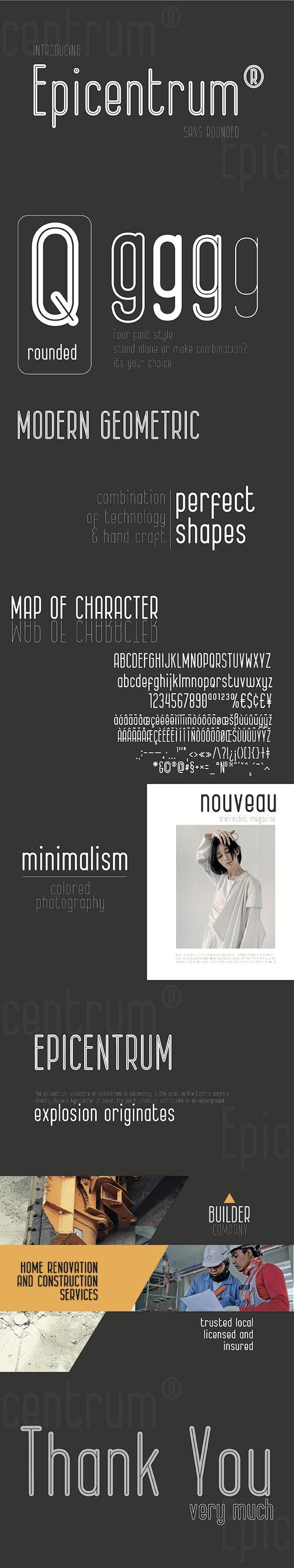 Epicentrum - Sans-Serif Fonts