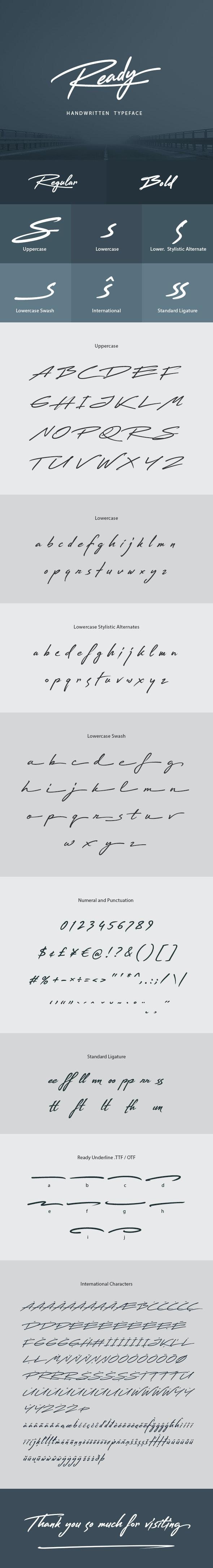 Ready Handwritten Font - Handwriting Fonts