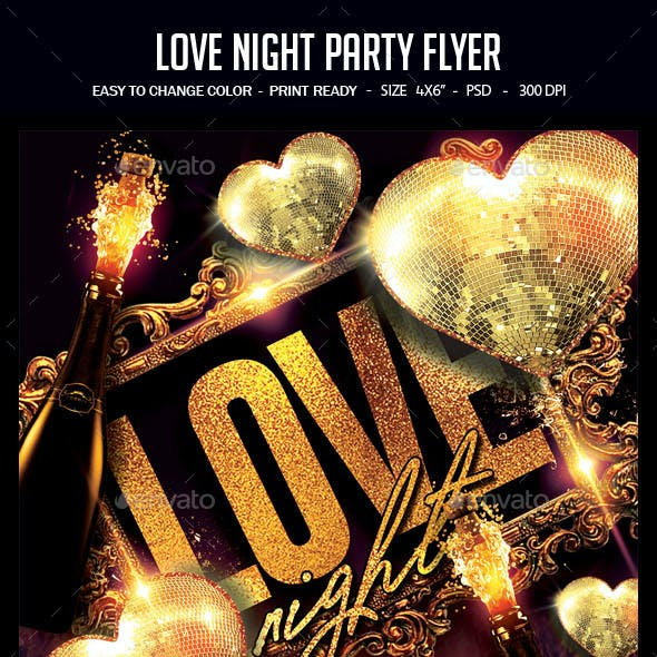 Love Night Party Flyer