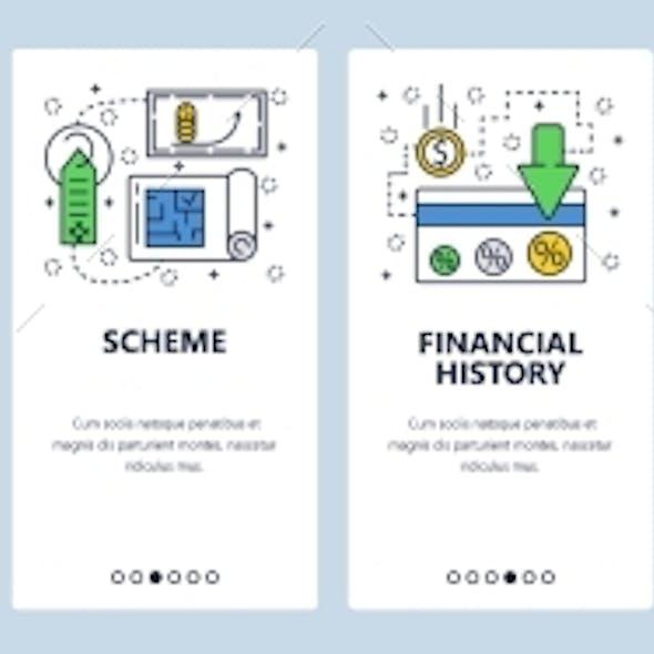 Website Onboarding Screens Loan and Finances
