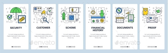 Website Onboarding Screens Loan and Finances - Web Elements Vectors