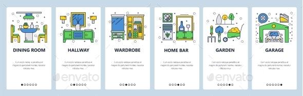 Website Onboarding Screens Home - Web Elements Vectors