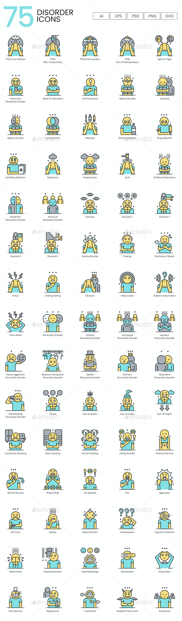 Psychology Icons - People Characters