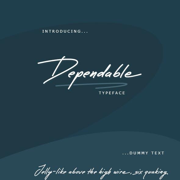 Dependable Font
