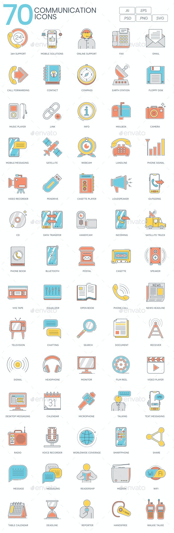 Communication Icons - Color Line - Business Icons