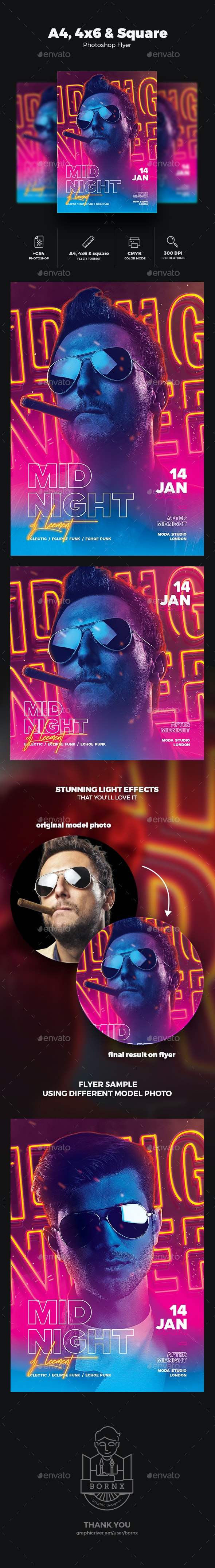 DJ Flyer Midnight Party