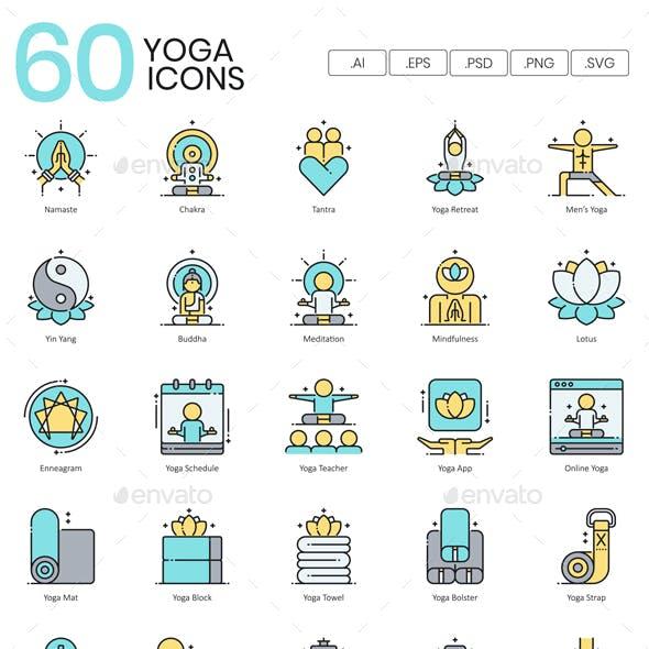 Yoga Icons - Aqua