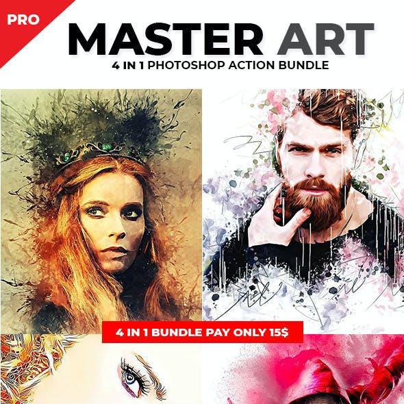 Master Art Photoshop Action Bundle
