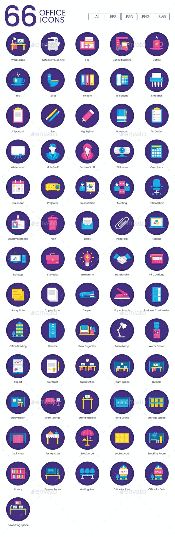 Office Icons - Orchid - Business Icons