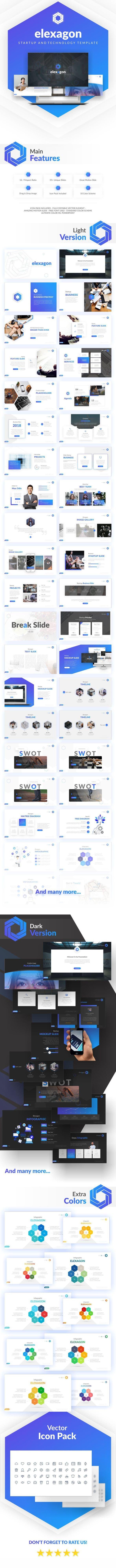 Elexagon Start Up PowerPoint Template - PowerPoint Templates Presentation Templates