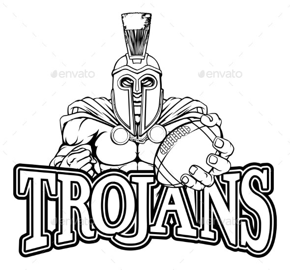 Spartan Trojan American Football Sports Mascot - Sports/Activity Conceptual