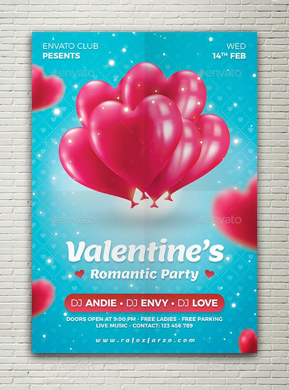 Valentine Party Flyer - Holidays Events