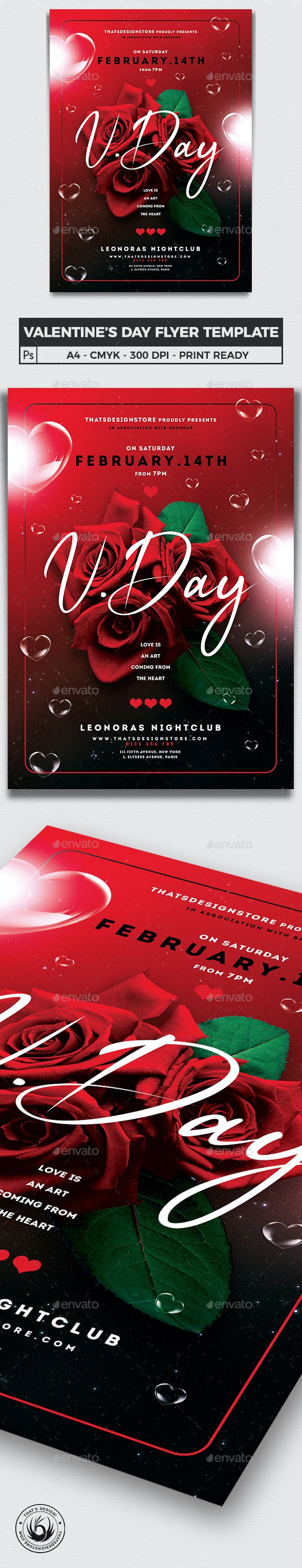 Valentines Day Flyer Template V20 - Clubs & Parties Events