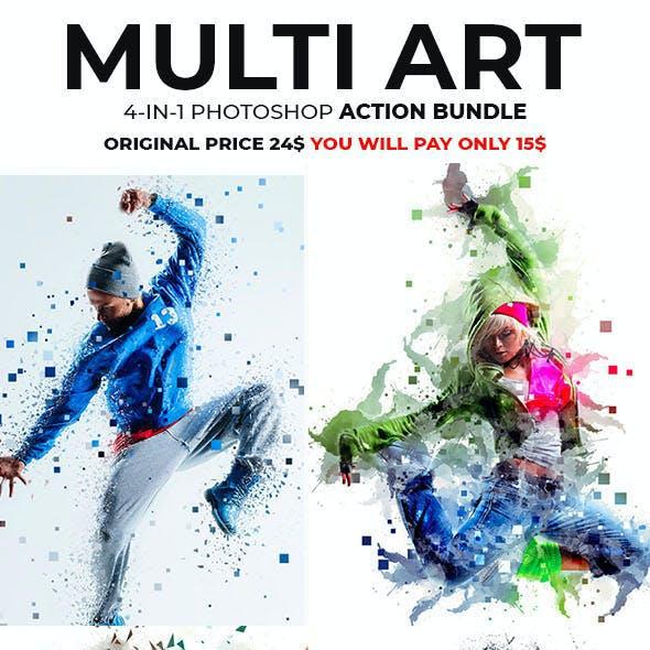 Multi Art Photoshop Action Bundle