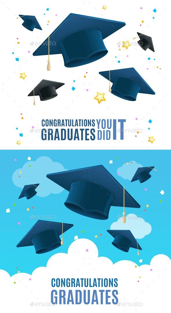 Congratulation Graduates Placard Banner Card - Miscellaneous Conceptual