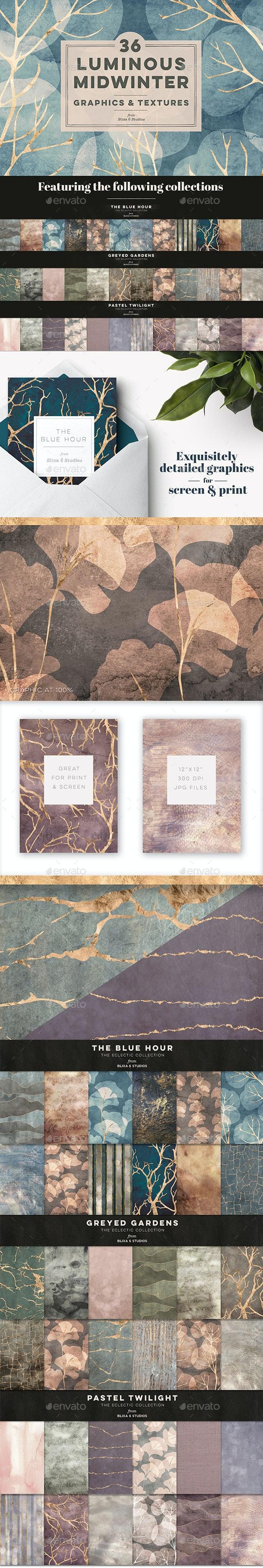 36 Luminous Midwinter Graphics & Textures - Nature Backgrounds