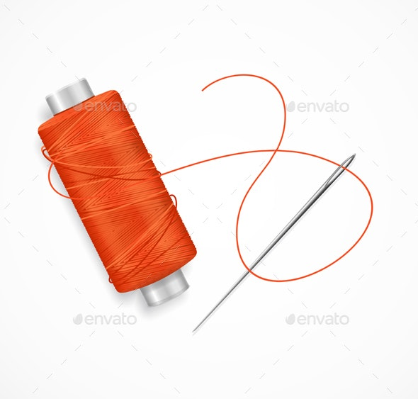 Realistic Detailed Needle and Thread - Man-made Objects Objects