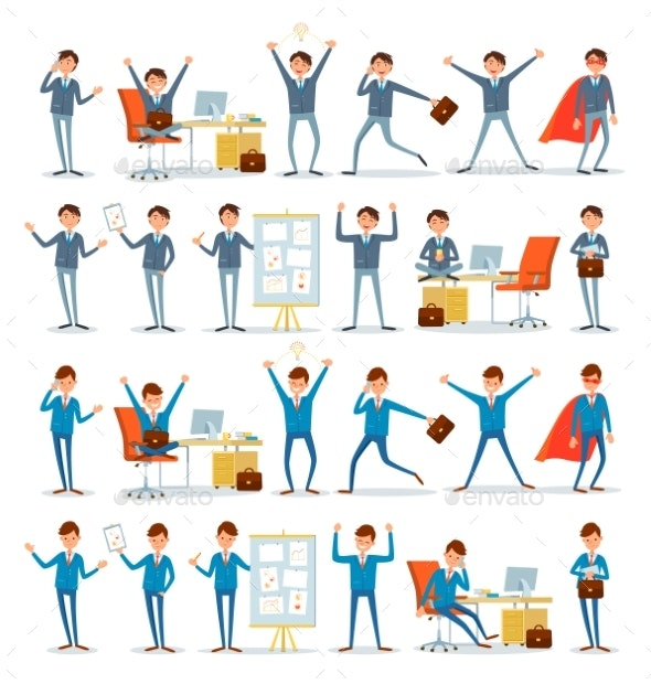 Man Busy with Work - Concepts Business