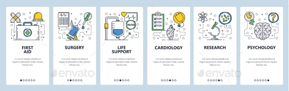 Website Onboarding Screens Medical - Health/Medicine Conceptual