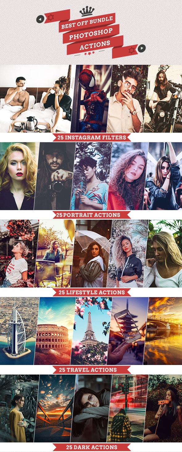 Best off Bundle Photoshop Actions - Photo Effects Actions