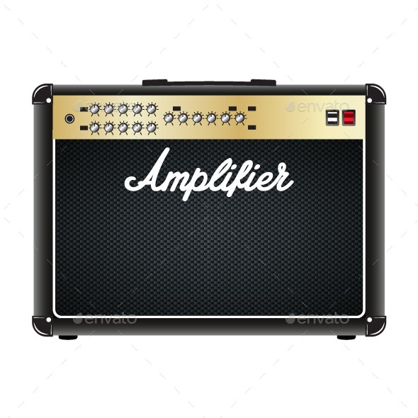 Guitar Combo Amplifier - Man-made Objects Objects