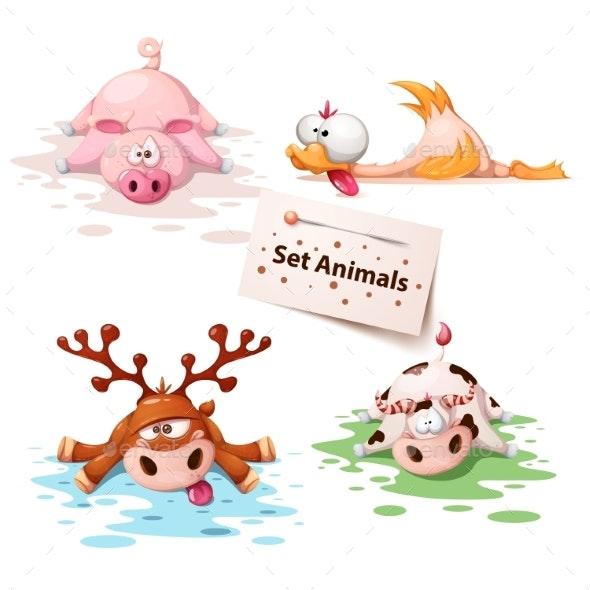 Sleeping Animals - Animals Characters