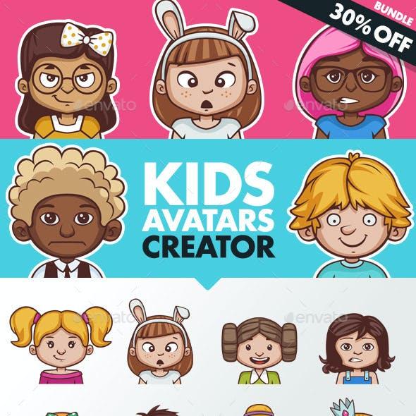 Kids Avatars Creator + 80 Ready Characters