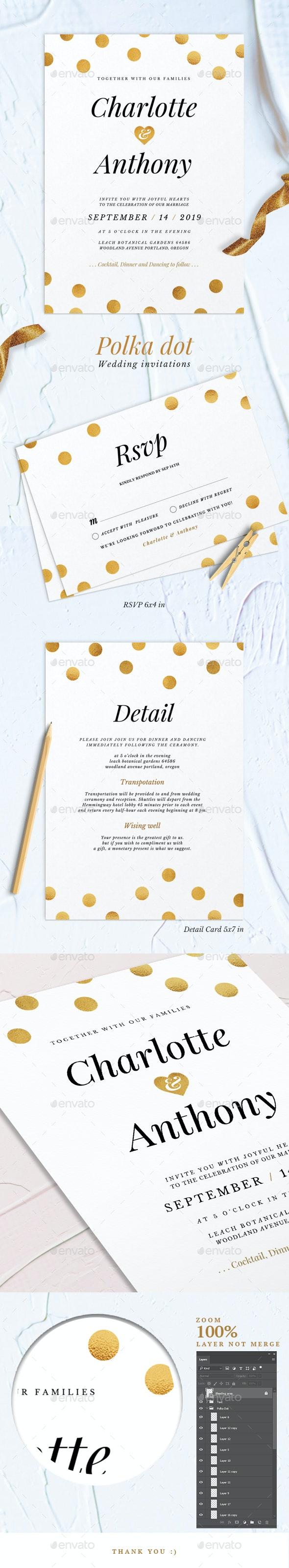 Polka dot Wedding Invitations - Weddings Cards & Invites